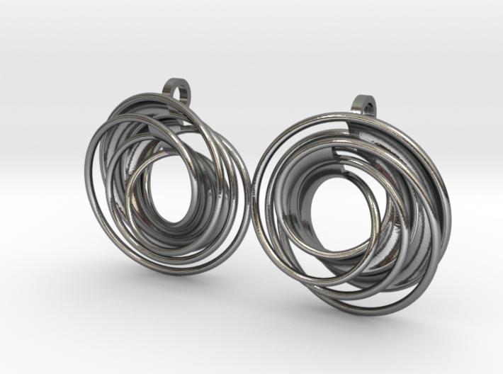 twin rail mobius earrings pair 3d printed