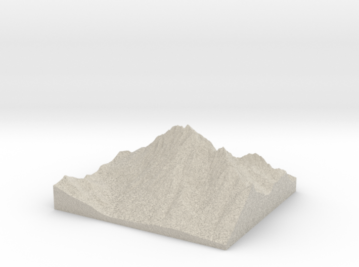Model of Mount Stuart 3d printed