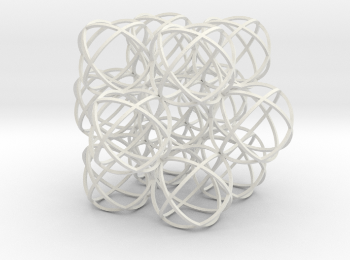 Packed Spheres Cuboctahedron 3d printed