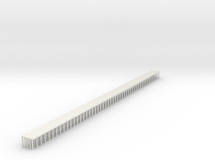 1/700 Single Span Wooden Dock 3d printed
