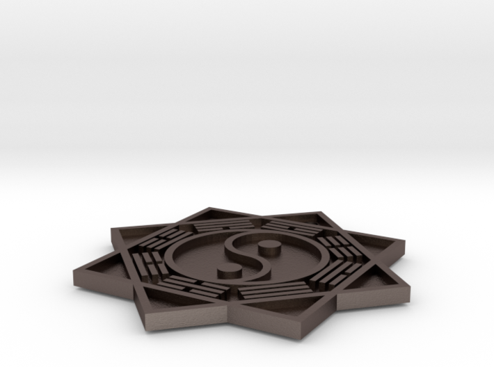 Yin Yang with the 8 Trigrams 3d printed