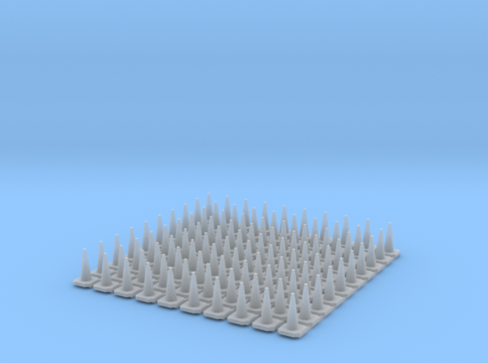 N Scale Britsh Standard 750mm Traffic Cones 3d printed