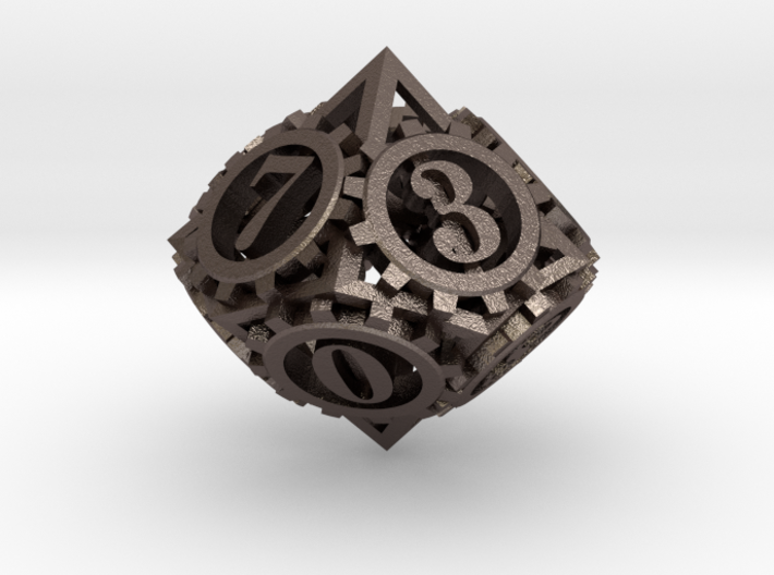 Steampunk Gear d10 3d printed