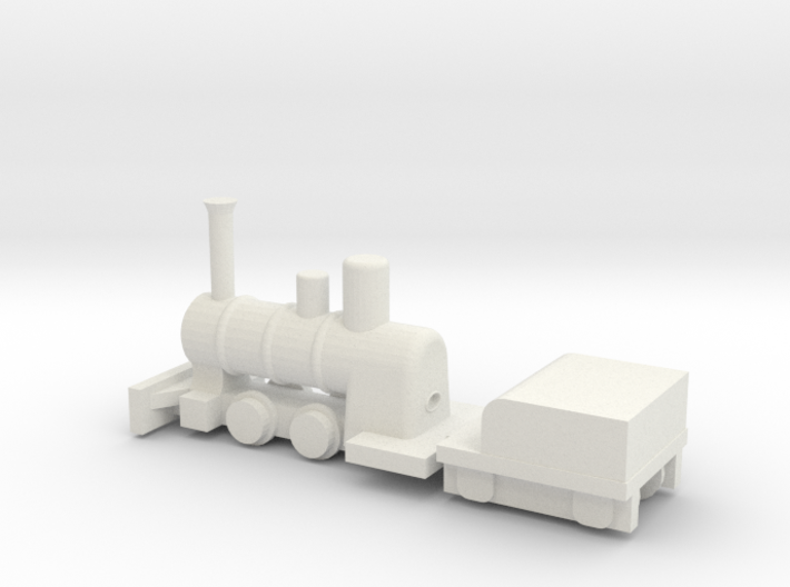 "7.5"" Gauge Romulus Boiler & Frames - HO Scale (1/8 3d printed"