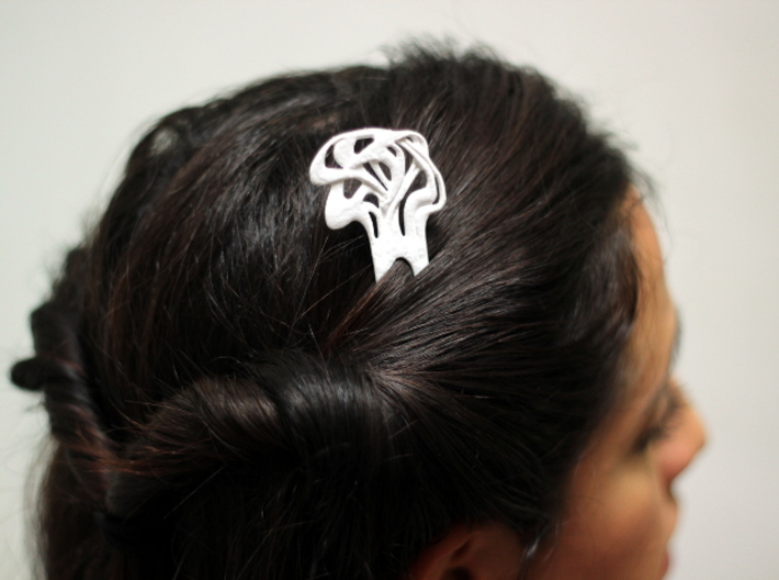 Mucha Hairpin 3d printed