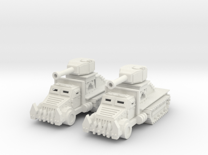 15mm Greenskin Gun Wagons (x2) 3d printed