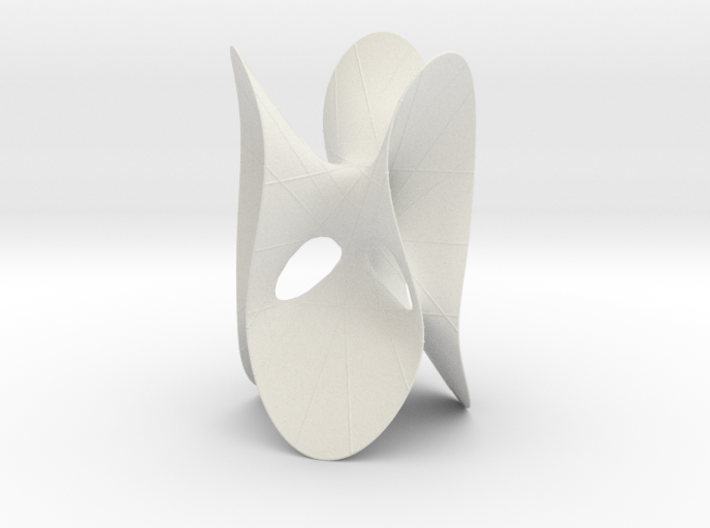 Clebsch Diagonal Surface, 27 lines, 119mm (4.7in) 3d printed