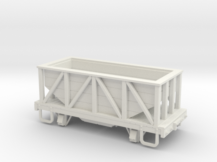 On30 14ft 4w wood hopper car 3d printed