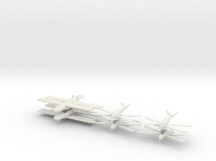 UK Ornithopter Fleet (6 ships) 6mm 3d printed