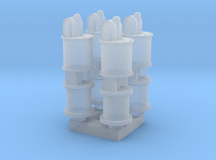 HO steam engine airpump x4 3d printed
