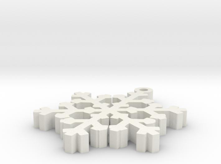 Snowy Flake 3d printed