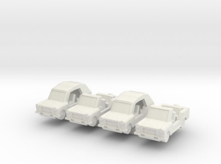 Z Scale Trabant Kuebel 3d printed