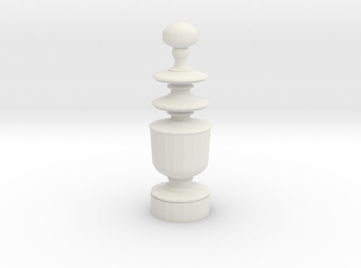 Smaller Staunton Queen Chesspiece 3d printed