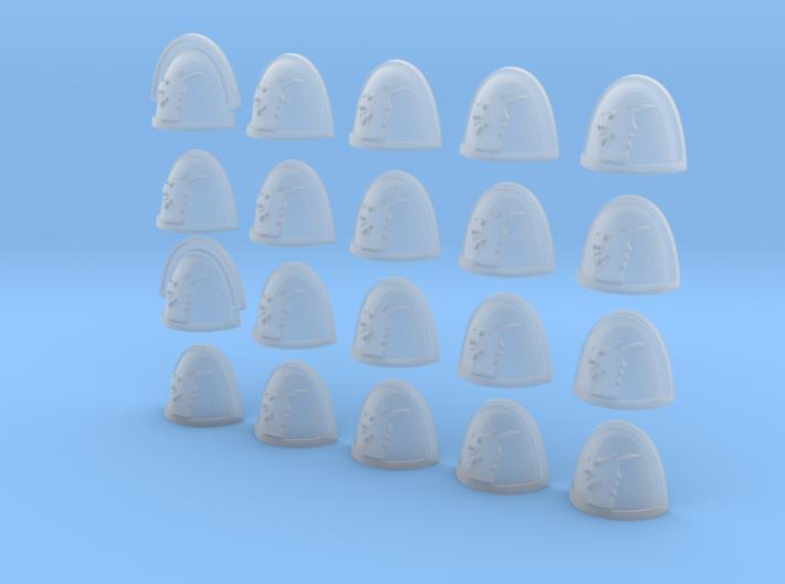 Dragon Head - 20, 28mm Shoulder Pads 3d printed
