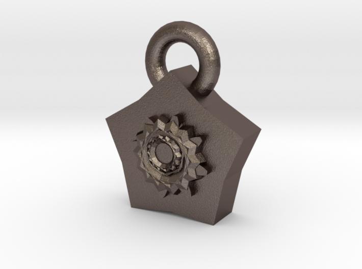Steampunk Pendant 3d printed
