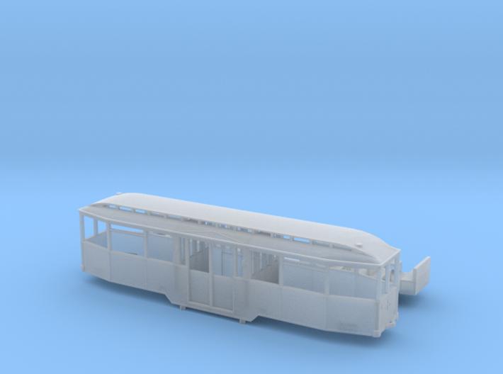 Tram Leipzig Mitteleinstiegs Beiwagen Typ 61 1:160 3d printed