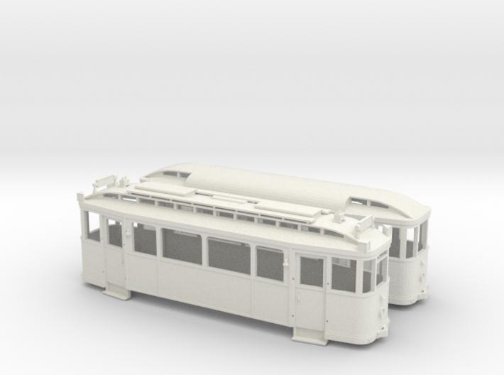 Tramzug der Lockwitztalbahn TW5/BW12 in Spur H0m ( 3d printed