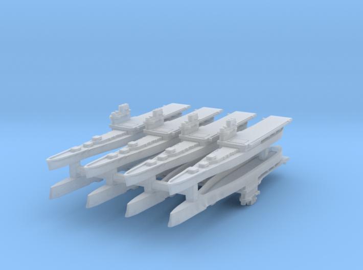 Providence Class CLV 1:6000 x8 3d printed