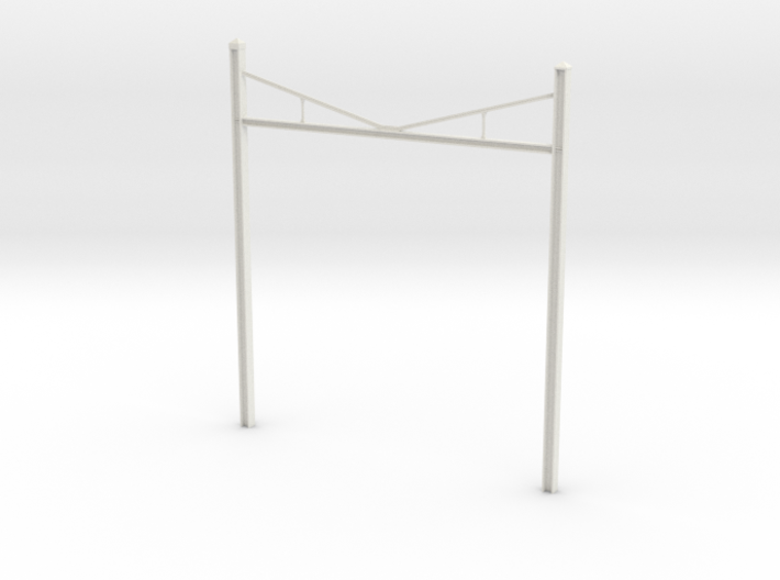 Catenary Pole Full Dimensions 4 inch centers 3d printed