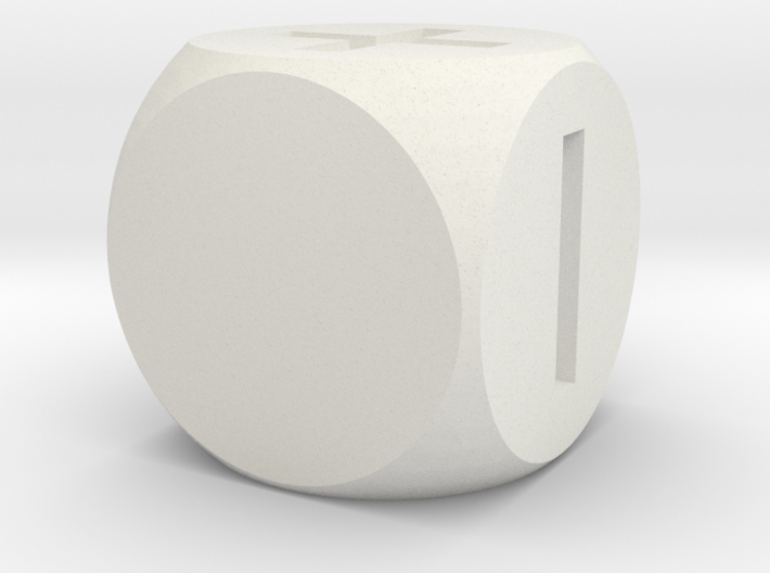 Basic Fudge Dice SOLID (x1) Fate dF 3d printed