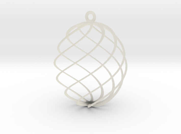 Egg Spun Ornament 3d printed