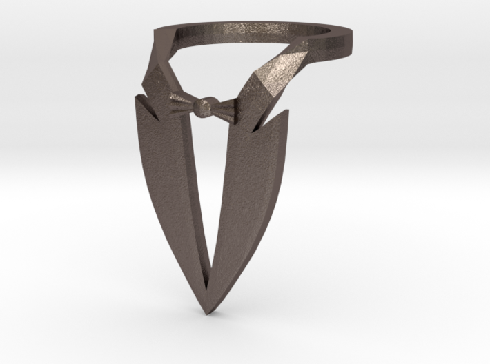 Tuxedo Ring - Size 12 3d printed