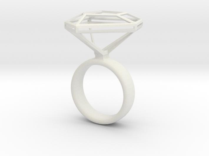 Diamantring_NR3_Ringgroesse_53 3d printed