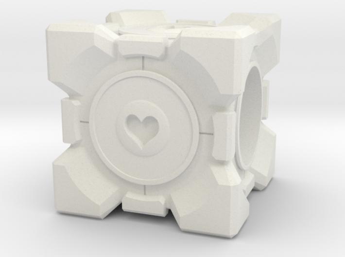 Companion Cube Pandora style Bead 3d printed