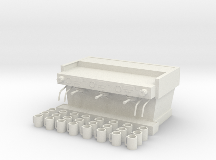 Espresso Machine with 24 Cups 3d printed