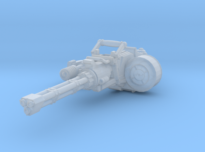 advanced Gatline Cannon 001a carried with support 3d printed