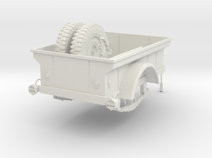 1:18 USA Jeep M-100 MBT Trailer v2 3d printed