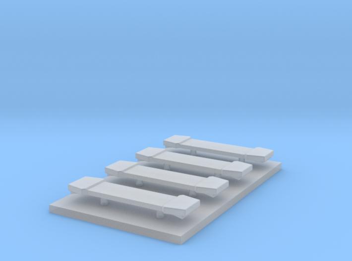 LED Lightbar 16,5 mm 4 stuks 1:87 3d printed