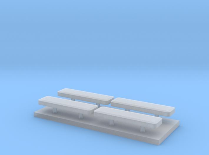 Whelen lightbar 13 mm 4stuks 1:87 3d printed