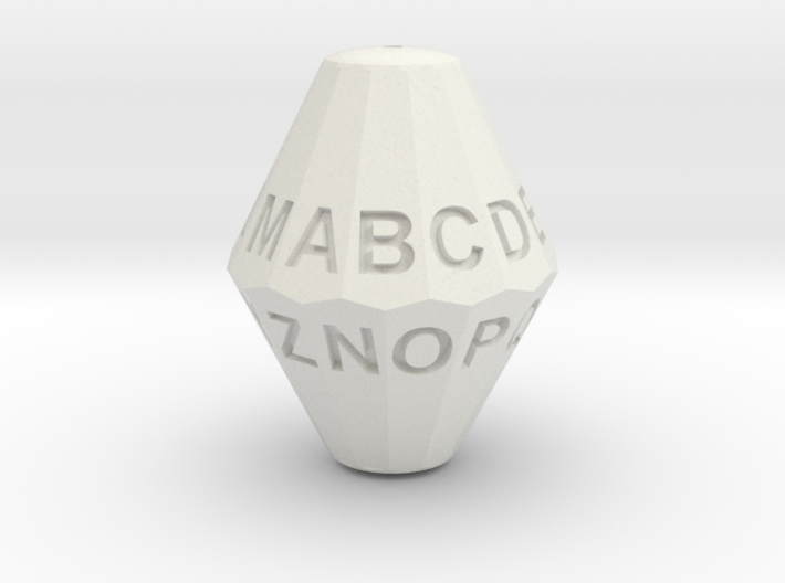 D26 Alphabet Dice 3d printed