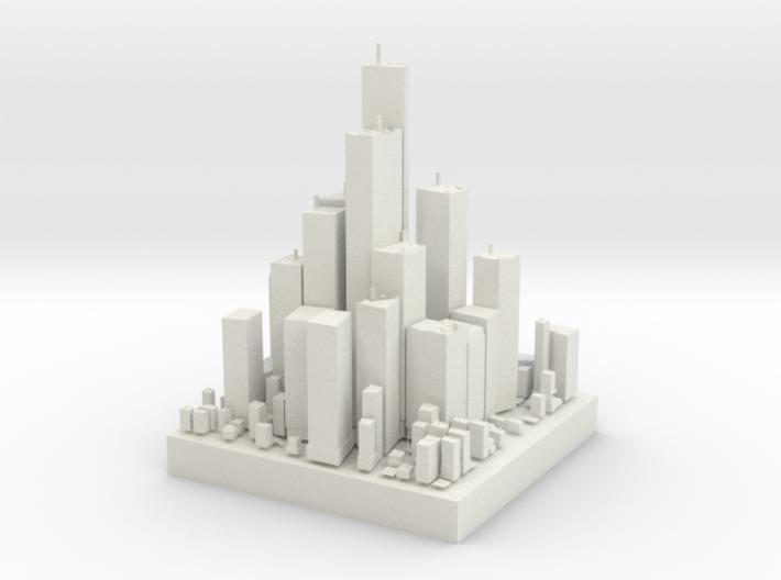 A mini city 3d printed