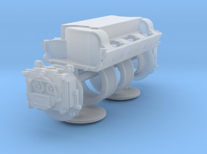 1/12 426 Hemi Dual Quad Intake Kit 3d printed