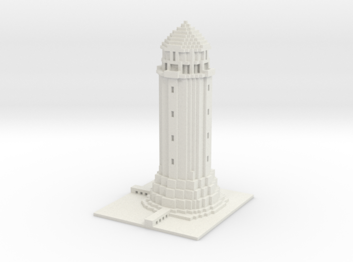 Lighthouse Minecraft 3d printed