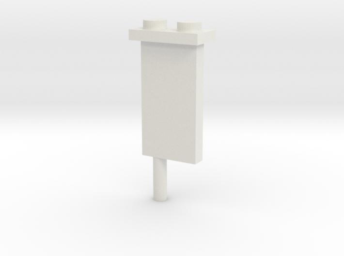 Minifig Shark Monument (knife blade) 3d printed