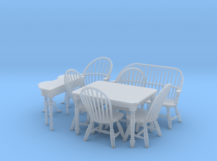 1:48 Windsor Furniture Set 3d printed