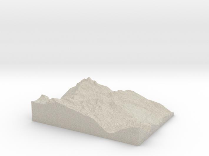 Model of Hochsölden 3d printed