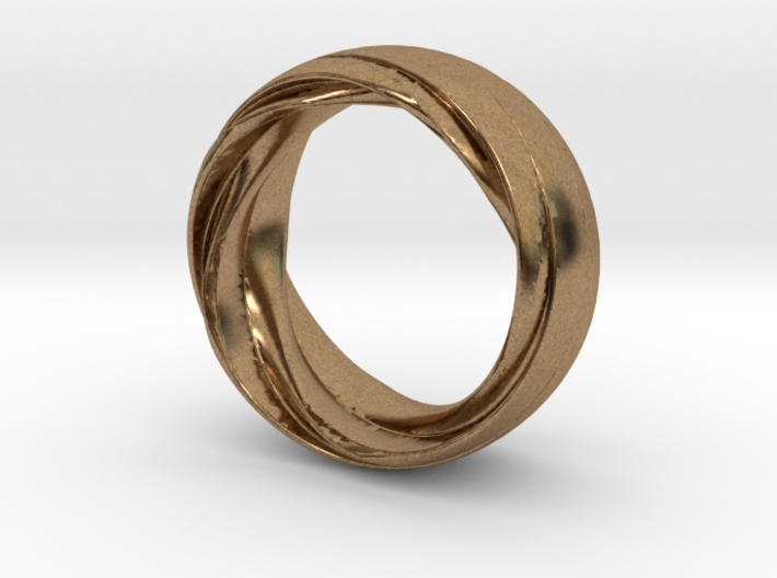 Twist Fit Ring - Size O 3d printed