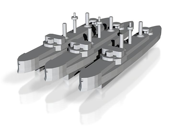 Hydra Class Ironclad 1:6000 x3 3d printed
