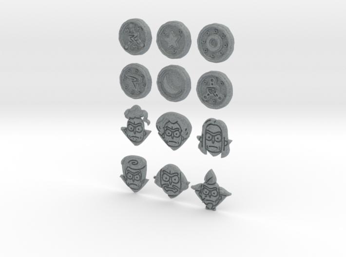 Morty Badges 3d printed