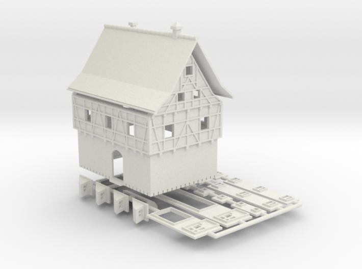 Eckhaus mit Laden 1 - 1:220 (Z scale) 3d printed