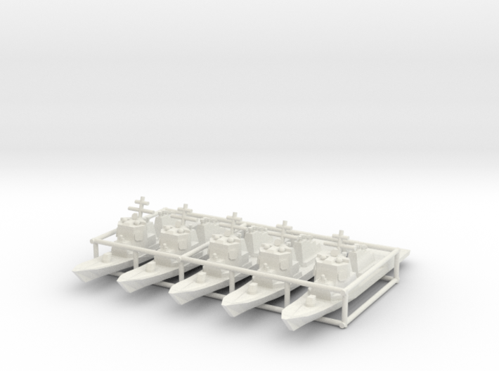 Arleigh Burke class destroyer x5 1/3500 3d printed