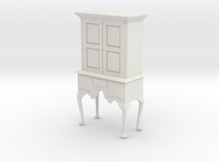 1:24 Queen Anne Highboy Cabinet 3d printed