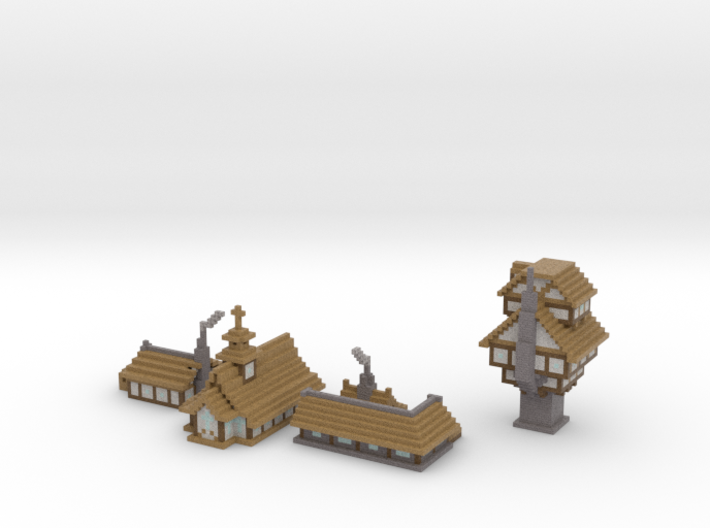 Medieval Buildings 2 3d printed