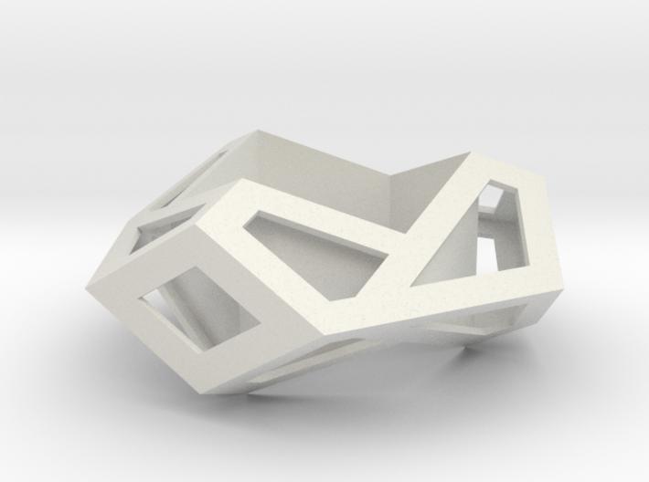 Hexagonal Torus Skeleton 3d printed