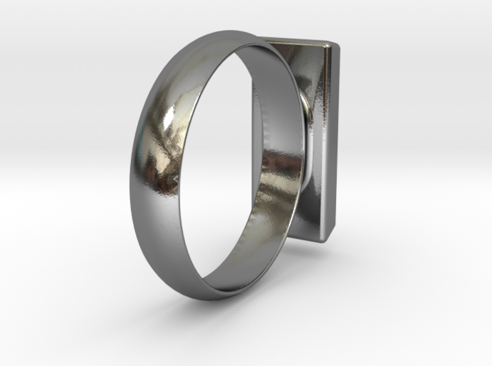Golden Brick Ring 3d printed