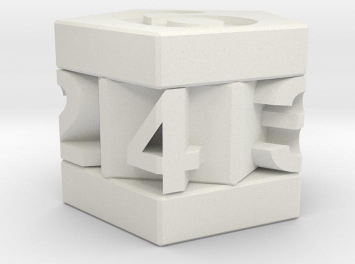 D-7 Pentagonal Die 3d printed